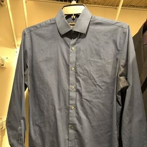 Kenneth Cole Slim-Fit Solid Dress Shirt